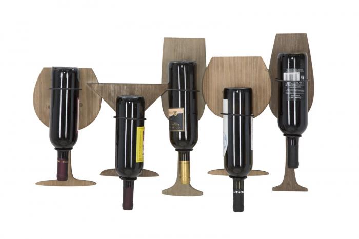 Suport de perete pentru sticle de vin GLASS, 71X12.5X41.5 cm, Mauro Ferretti 6