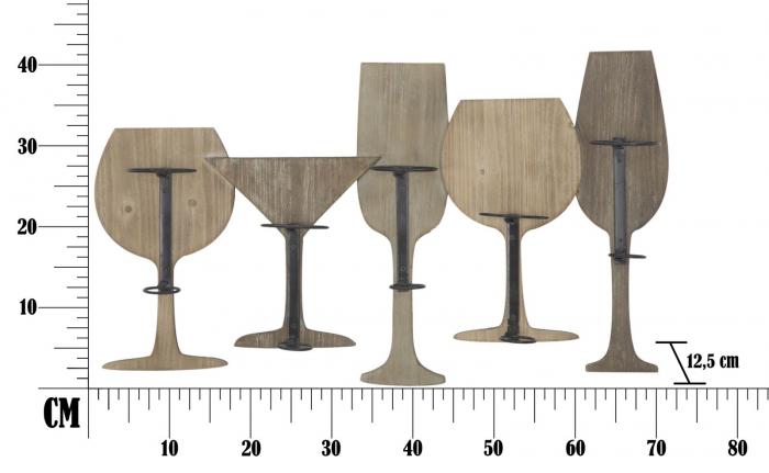 Suport de perete pentru sticle de vin GLASS, 71X12.5X41.5 cm, Mauro Ferretti 9