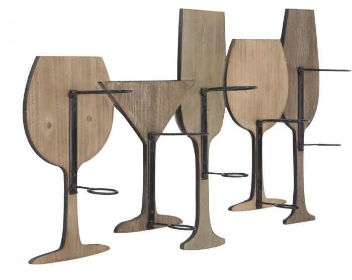 Suport de perete pentru sticle de vin GLASS, 71X12.5X41.5 cm, Mauro Ferretti 2