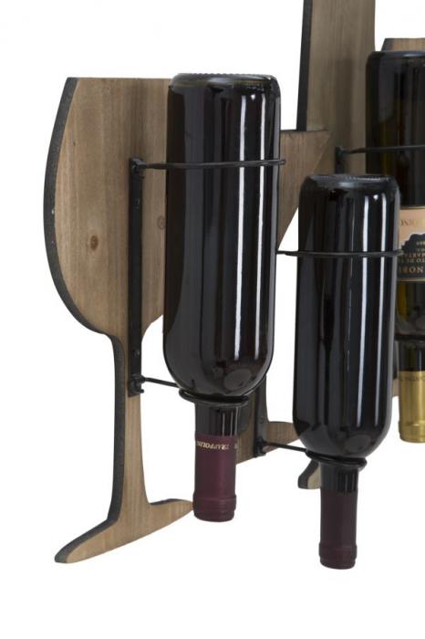 Suport de perete pentru sticle de vin GLASS, 71X12.5X41.5 cm, Mauro Ferretti 7