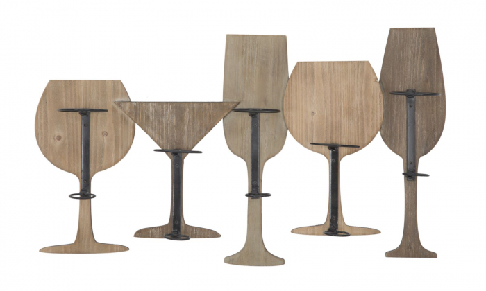 Suport de perete pentru sticle de vin GLASS, 71X12.5X41.5 cm, Mauro Ferretti 0