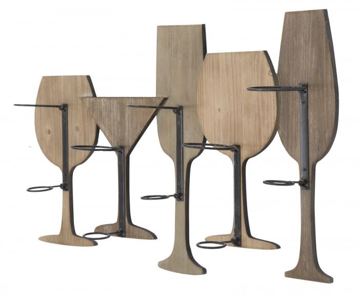Suport de perete pentru sticle de vin GLASS, 71X12.5X41.5 cm, Mauro Ferretti 3
