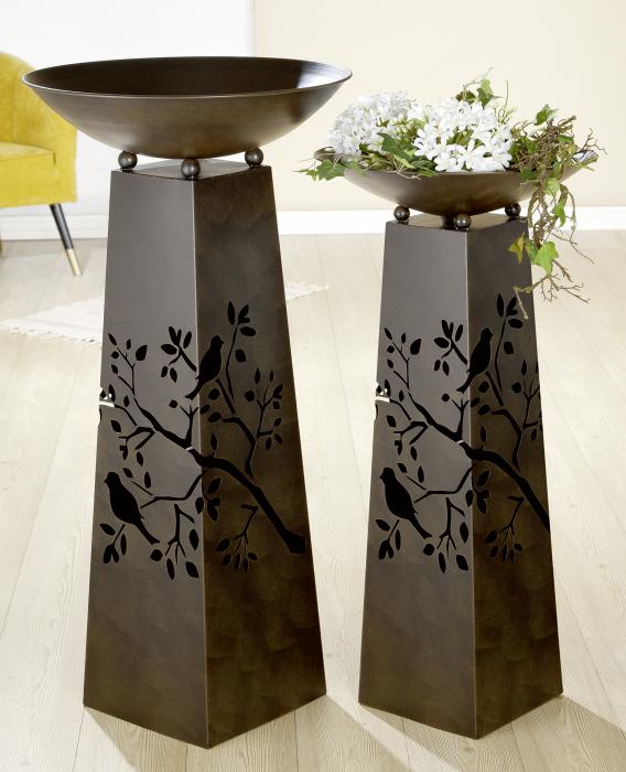 Suport flori BIRD TWIG, metal, 102x50 cm 1