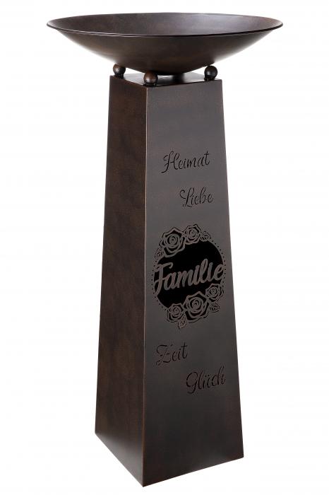 Suport flori Familie, metal, maro, 117x58 cm 0