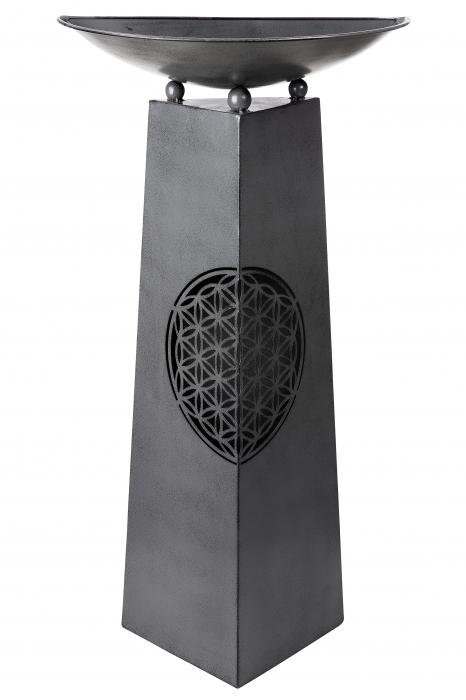 Suport flori Flower, metal, negru, 58x117x29 cm 1