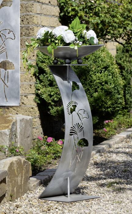 Suport flori GINKGO, metal, 110x50 cm 0