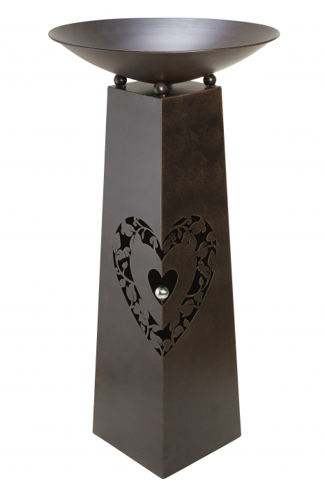 Suport flori HEART, metal, 102x50 cm 0