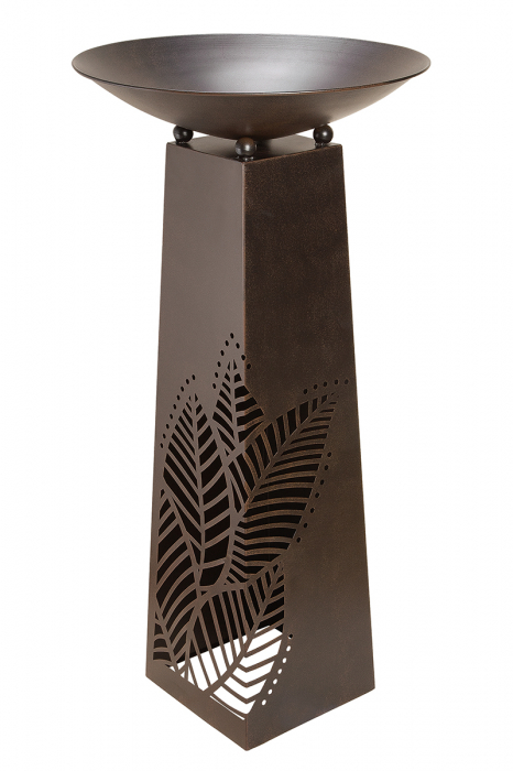 Suport flori Leaves , metal, maro, 117x58 cm 0
