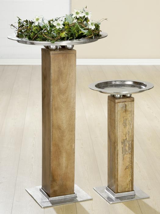 Suport flori ROTONDO, lemn/metal, 70x40 cm 1