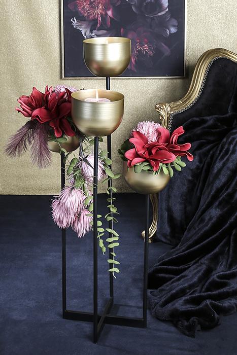 Suport flori QUATTRO, metal, 97 cm 2
