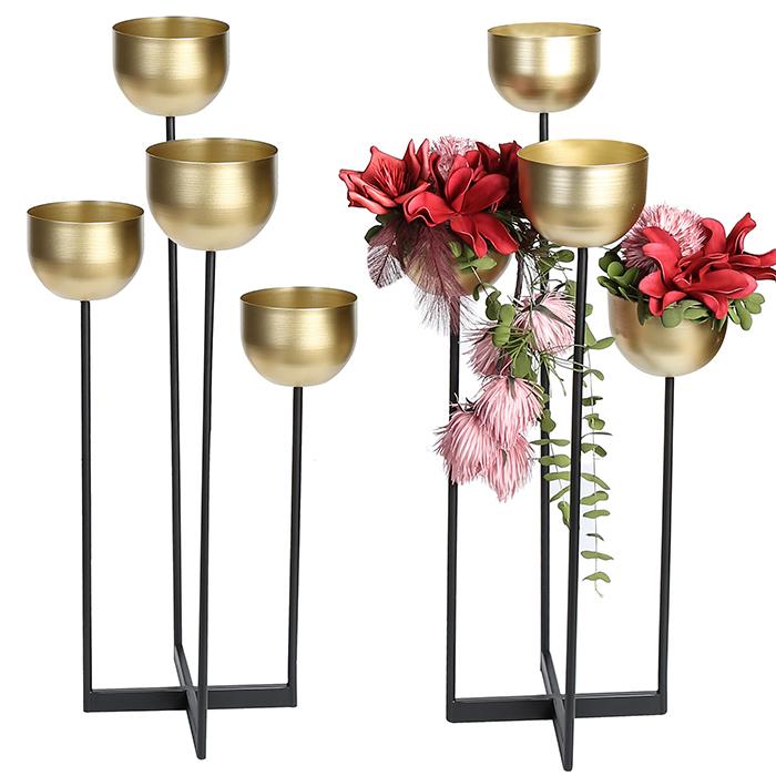 Suport flori QUATTRO, metal, 97 cm 1