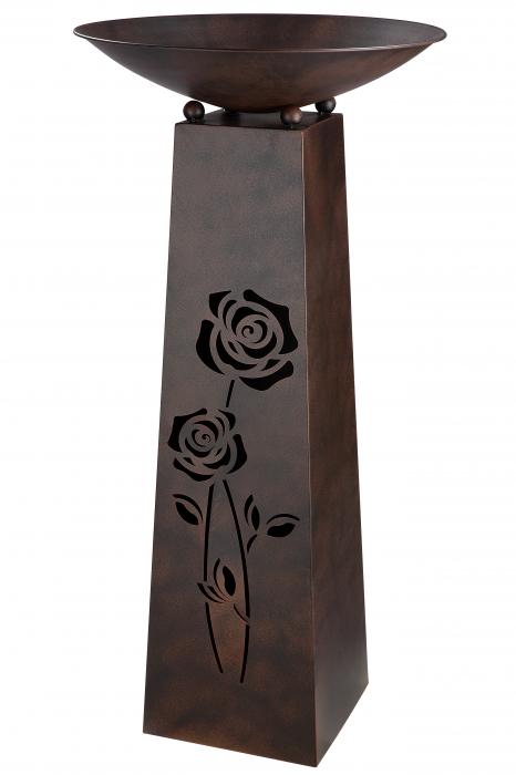 Suport flori Roses, metal, maro, 102x50 cm 0