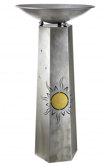 Suport flori Sun, metal, argintiu, 117x58 cm 0