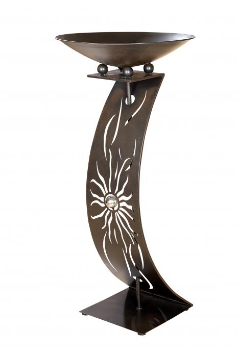 Suport flori SUNNY WAVE, metal, 109x50 cm 1