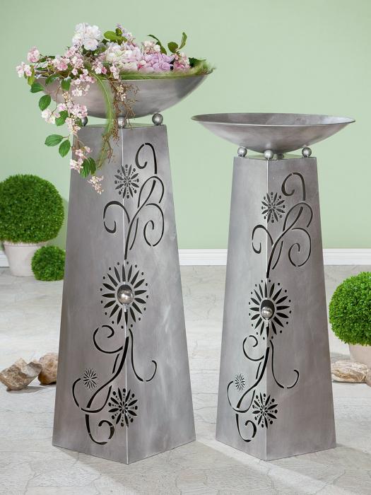 Suport flori TENDRIL, metal, 102X50 cm imagine 2021 lotusland.ro