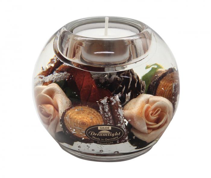 Suport lumanar pastila DREAM- rose, sticla, 9x8 cm 2021 lotusland.ro