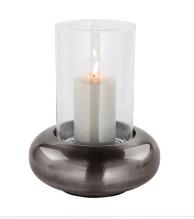 Suport lumanare DELPHI, metal/sticla, 24.8 cm, Fink 0