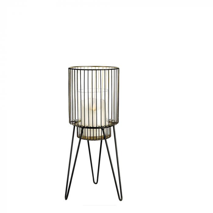 Suport lumanare DIVERSITY, metal/sticla, 38x14 cm 0