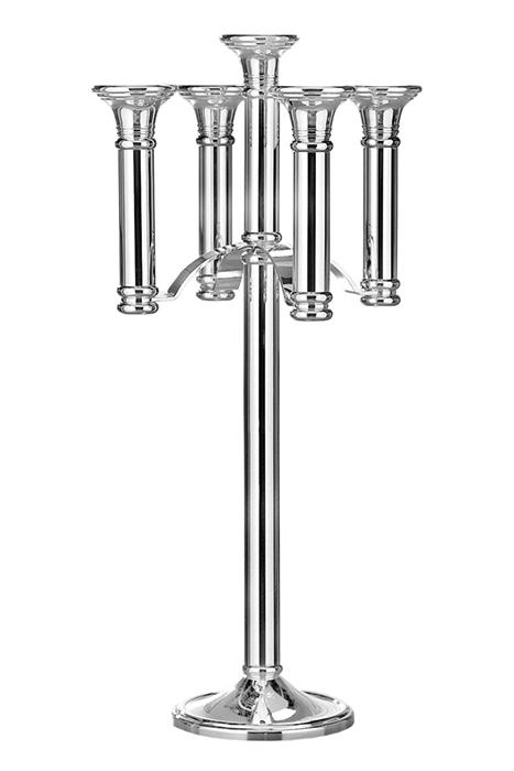 Suport lumanare MERKUR, metal placat cu nichel, 41.5 x 85 cm 2021 lotusland.ro