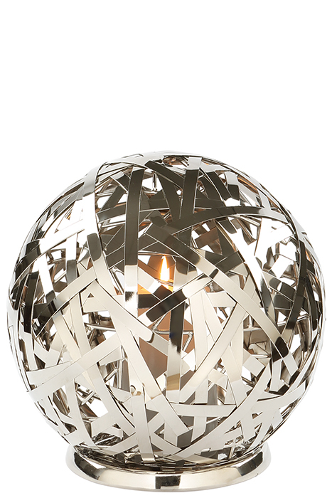 Suport lumanare MOLA, aluminiu/nichel/inox, 25 cm, Fink 0