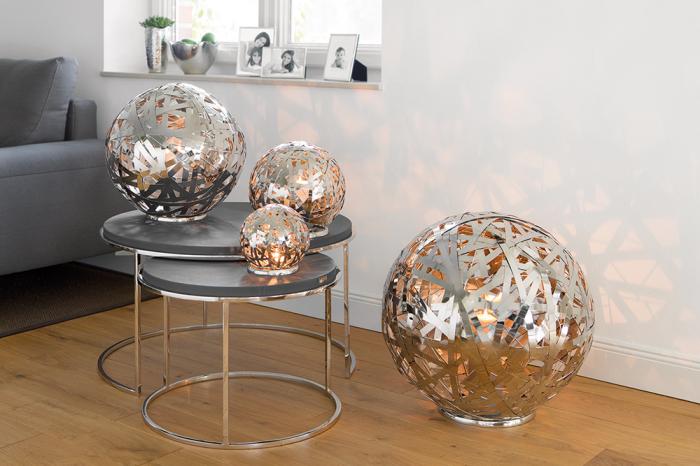 Suport lumanare MOLA, aluminiu/nichel/inox, 50 cm, Fink 1
