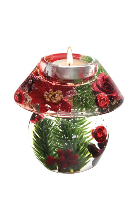 Suport lumanare pastila DREAM-rose, sticla, 11x11 cm imagine 2021 lotusland.ro