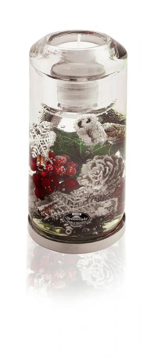 Suport lumanare pastila LED inclus DREAM-candela, sticla, 14.5x7.2  cm 0
