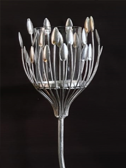Suport lumanare TREVI, metal antichizat, 93x18  cm 1