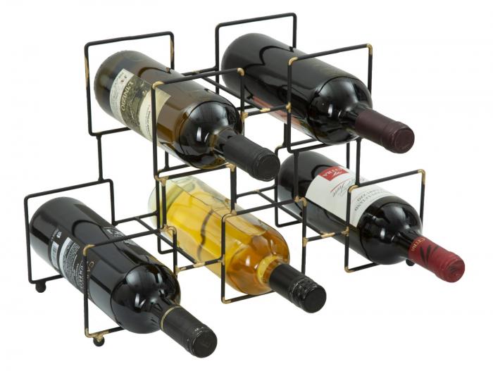 Suport pentru 5 sticle, 0X15X26.5 cm, Mauro Ferretti 3