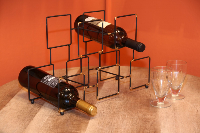 Suport pentru 5 sticle, 0X15X26.5 cm, Mauro Ferretti 7