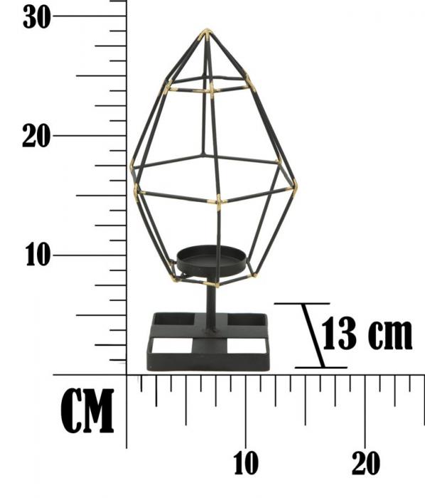 Suport pentru lumanare BRIGHT PIRAMID (cm) 15X13X29 7