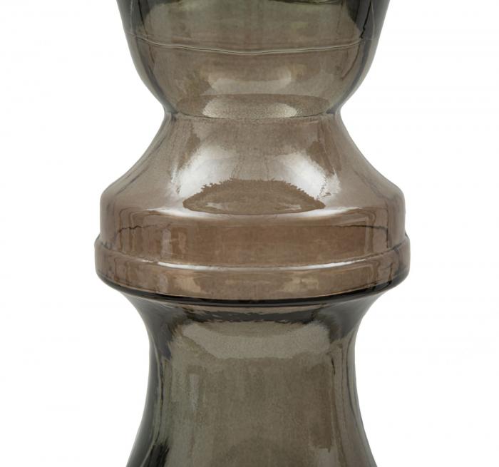 Suport pentru lumanare BROWN, sticla reciclata, (cm) Ø 15X40  1