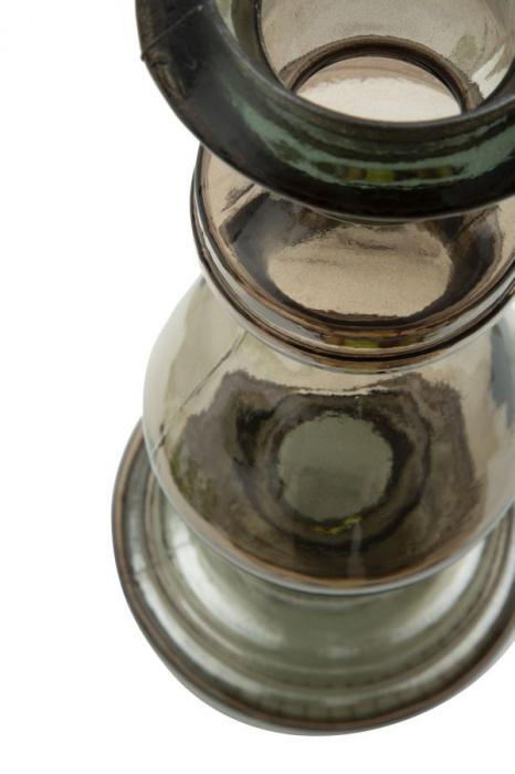 Suport pentru lumanare BROWN, sticla reciclata, (cm) Ø 15X40  5