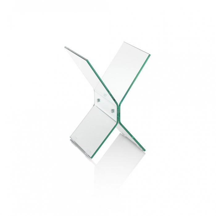 Suport pentru reviste BREAK, Sticla, Transparent, 40x35x50 cm imagine 2021 lotusland.ro