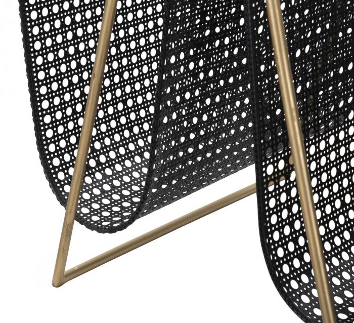Suport pentru reviste dublu, fier, negru/uriu, 31X40X42.5 cm 6