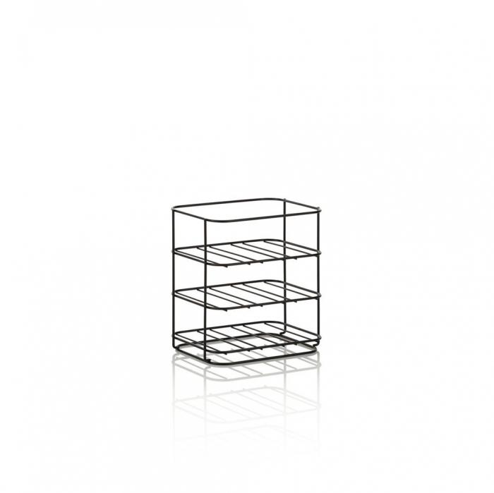 Suport pentru sticle WAIN, Metal, Negru, 31x23.7x34.3 cm lotusland.ro