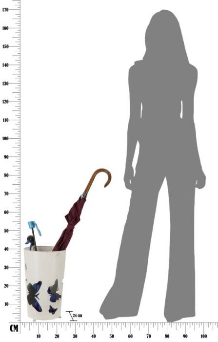 Suport pentru umbrela BUTTERFLY, 24X41 cm, Mauro Ferretti 6