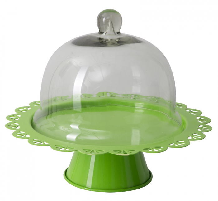 Suport tort Fan, fier sticla, verde, 27.5X22.5 cm imagine 2021 lotusland.ro