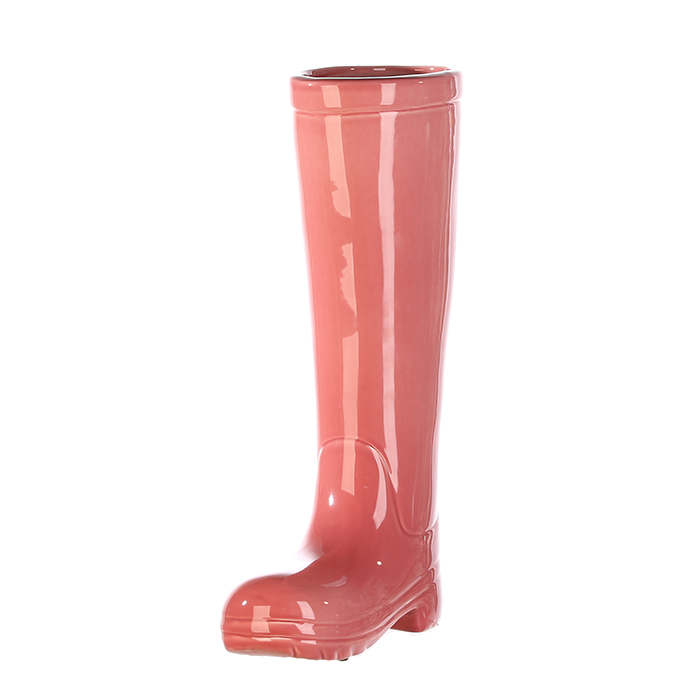 Suport umbrela BOOT, ceramica, roz, 45x26x11 cm 4