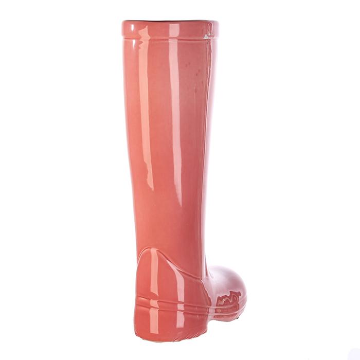 Suport umbrela BOOT, ceramica, roz, 45x26x11 cm 3