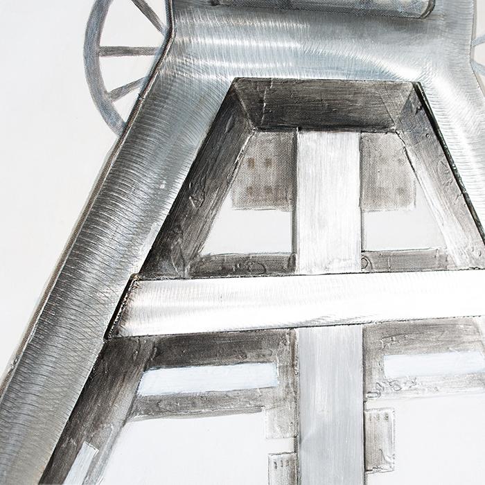 Tablou 3D COAL MINE, panza/aluminiu, 100x80x4 cm 4
