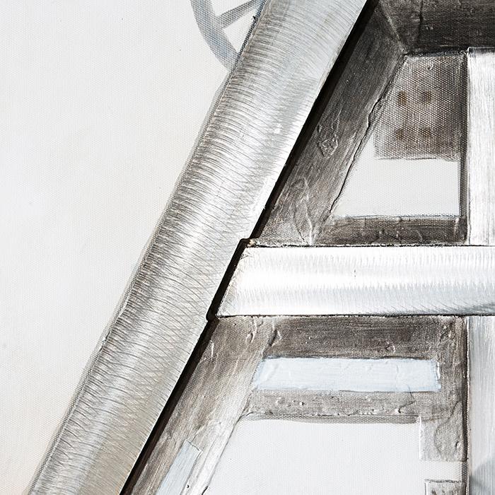 Tablou 3D COAL MINE, panza/aluminiu, 100x80x4 cm 3