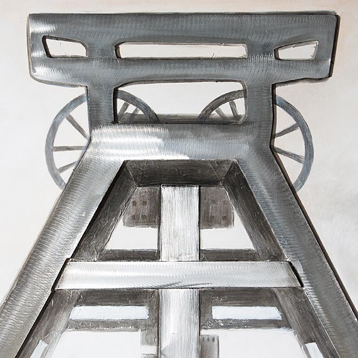 Tablou 3D COAL MINE, panza/aluminiu, 100x80x4 cm 2