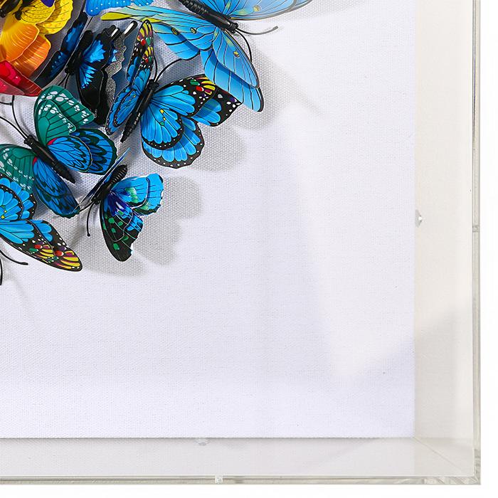 Tablou BUTTERFLY, 60x60x6 cm 1