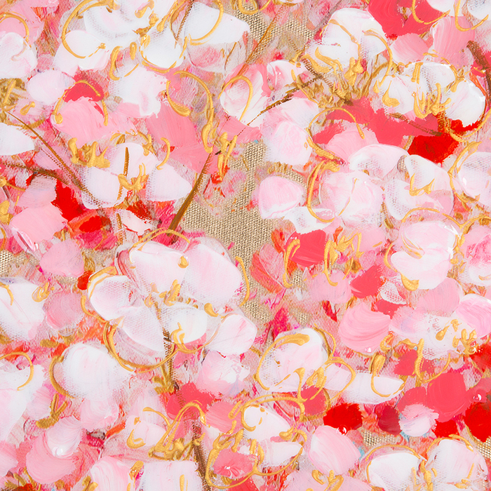 Tablou CHERRY TREE, panza, 140x70x3.5 cm 1