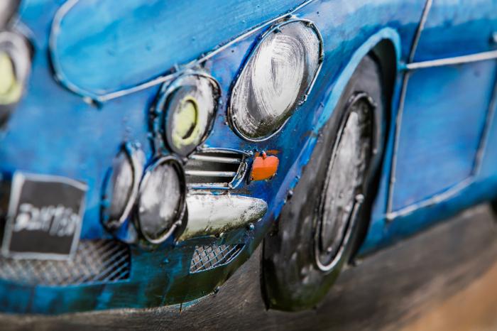 Tablou metal 3D Blue sportcar 80 x 60 2