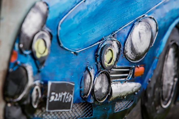 Tablou metal 3D Blue sportcar 80 x 60 1