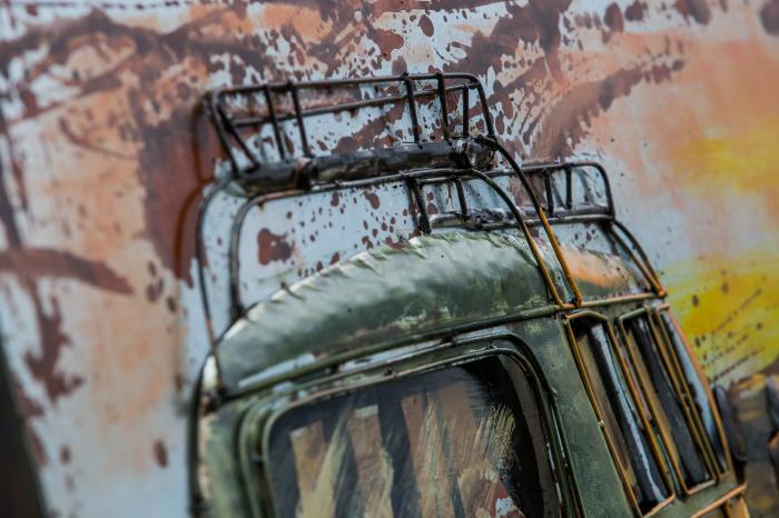 Tablou metal 3D Green Van 80 x 120 4