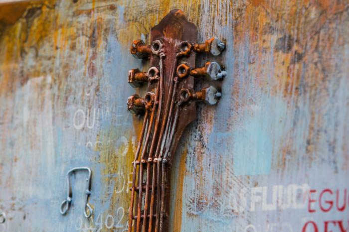 Tablou metal 3D Guitar 60x90 cm 2