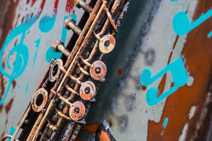 Tablou metal 3D Saxophone 40 x 80 1